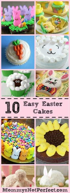 10 Easy Easter Cakes - Simple Easter Dessert Creations - www.mommysnotperfect.com