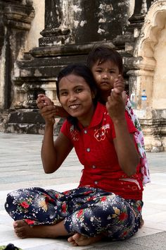 mother and daughter Mandalay