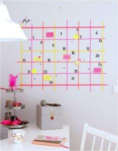 ebabee likes:Get organised: DIY Washi tape calendar - ebabee likes