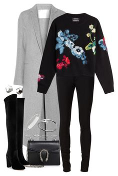 """Sem título #1173"" by manoella-f on Polyvore featuring moda, ADAM, rag & bone/JEAN, Anthony Vaccarello, Gucci, Aquazzura, NOVICA, New Look e Maison Margiela"