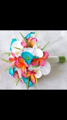 Turquoise and Coral tropical wedding