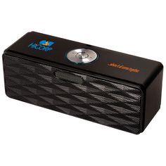 PL-4407  Bluetooth® Mini-Boom Speaker/FM Radio. Aluminum case speaker/FM scan radio with steel mesh cover and no-slip bottom. Also play MP3 files though a USB flash drive or TF card. Includes rechargeable lithium-ion battery that charges through USB port. 3.5mm headphone jack.  #promotionalproducts #corporategifts #brandidentity #employeerecognition #promoprodsstl #logo #yourlogohere  #tradeshows  #giveaways #marketing #advertising #technology #speaker #bluetooth