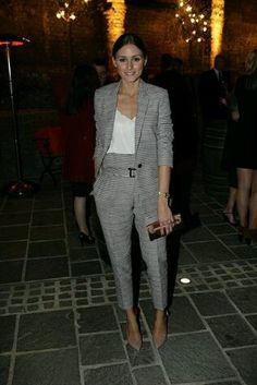 Olivia Palermo at London Fashion Week : the British Fashion Council Party Fashion Mode, Office Fashion, Party Fashion, Work Fashion, New Fashion, British Fashion, Fashion Heels, Fashion Pants, Style Fashion