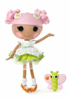 Lalaloopsy Doll - Blossom Flowerpot by MGA Entertainment. $54.95. Shoes and clothes can be removed for fashion play. Articulated head arms and legs. She's super-patient and caring always cheerful and loves to dig around in the dirt. Sewn from a pair of Gardner's Gloves. Pet Butterfly. From the Manufacturer                The Lalaloopsy were once rag dolls who magically came to life taking on the personalities of the fabrics that were used to make them. They live in a c...