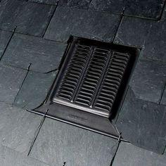 Chatière de ventilation en ardoise