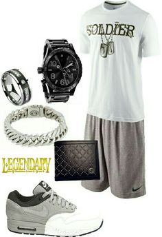 Men's fashion casual Nike outfit