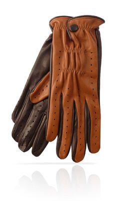 Guanto golf uomo in pelle Ta/Testa di moro. Disponibile in 5 colori.