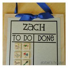 Easy peasy & interactive Chore chart
