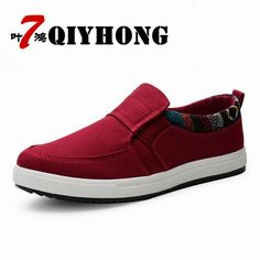 size 40 bbb65 6f796 New Arrival 2018 High Quality Men Flats Shoes Breathable Fashion Men Casual  Canvas Shoes Zapatos Hombre Mens Flats.