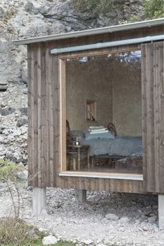 Skälsö Arkitekter Cabin Design, House Design, Small Beach Houses, Swedish Cottage, Tiny House Cabin, Minimal Home, Small Buildings, Cabins In The Woods, Gardens