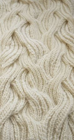 Emma Brooks hand knit cable