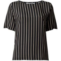Won Hundred Striped T-Shirt (€75) ❤ liked on Polyvore featuring tops, t-shirts, black, won hundred, stripe tee, striped t shirt, stripe t shirt and striped tee