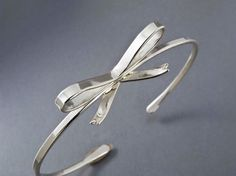 Ribbon Bow Cuff Bracelet  Forget Me Knot in by LichenAndLychee, $87.00
