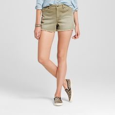 Women's Corduroy Shorts Olive (Green) 12 - Mossimo Supply Co.