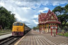 Vintage train station at Hua Hin