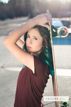 Creative Skateboard Portraits - Rexburg Idaho Photographer - Rexburg Skatepark - Claire Boyle Skatepark - Katelyn Bell Photography #byui #creativeportraits #skateboard #seniorportraits