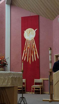 Holy Spirit banner for Pentecostal Sunday @ Holy Family Catholic Church, Kirkland, Wa