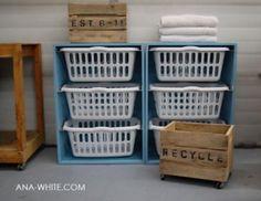 Laundry Basket Dresser from Ana White via Craft Gossip