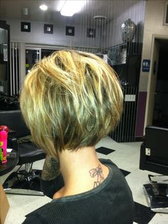 back view of an excellent bob