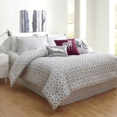 Helix Comforter Set - BedBathandBeyond.com   with yellow sheets and accent pillows