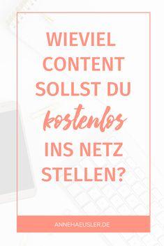 So findest du die Balance zwischen kostenpflichtigen und kostenlosen Inhalten im Netz Content Marketing, Online Business, Search Engine Optimization, Mesh, Blogging, Tips And Tricks, Knowledge, Inbound Marketing