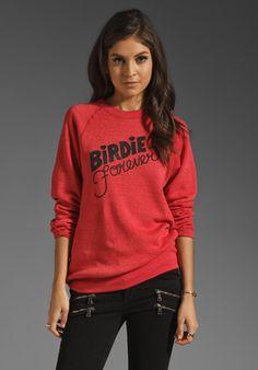 RACHEL ANTONOFF Birdie Forever Sweatshirt in Red - Sweatshirts & Hoodies