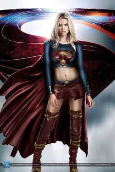"""Supergirl from man of steel (^.^) Thanks, Pinterest Pinners, for stopping by, viewing, re-pinning,  following my boards.  Have a beautiful day! ^..^ and """"Feel free to share on Pinterest ^..^  #unocollectibles, #comics"""