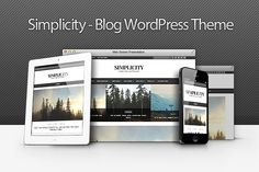 Simplicity - Clean Blog WP Theme by inditheme on @Graphicsauthor