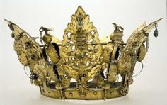 A Norwegian bridal crown, dated to 1634. Digitaly Museum/ Norge Folkemuseum, ID no. NF.1923-0417