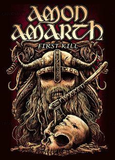 Melodic Death metal band Amon Amarth #amonamarth #firstkill #metal #melodicdeath Amon Amarth, Heavy Metal Art, Music X, Black Death, Metal Artwork, Metal Pins, Death Metal, Art Google, Hard Rock