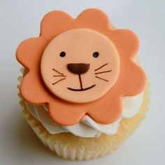Love this Smiling Lion Cupcakes by #whippedbakeshop for $5.50 each http://www.whippedbakeshop.com