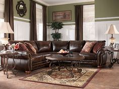 AMBER-TRADITIONAL BONDED LEATHER SOFA COUCH SECTIONAL SET LIVING ROOM FURNITURE