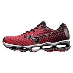 0997492455f7 Mizuno Wave Prophecy 4 Shin Red   Black   Silver Tennis Sneakers