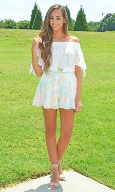 These shorts are to DYE for!! Pair them with a cute lace top to complete the look!