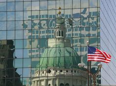St. Louis Courthouse building reflection