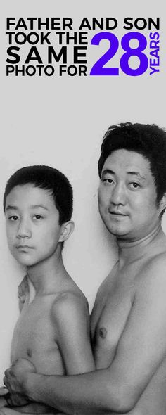 These photos of a father and son for 40 years will make you shred in tears...
