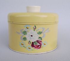 Vintage Canister - My Grandmother kept powder in this one. Still smells so good....