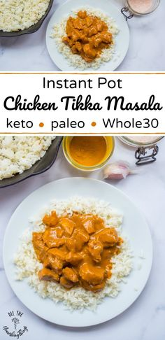 Instant Pot Chicken Tikka Masala is quick easy nourishing and so tasty! With anti-inflammatory spices like turmeric garlic and ginger this healthy Indian-inspired dish paleo THM and keto-friendly comfort food! Serve over rice or cauli-rice! Chicken Tikka Masala, Paleo Recipes, Indian Food Recipes, Ethnic Recipes, Paleo Indian Food, Cooking Recipes, Cheap Recipes, Paleo Meals, Clean Eating Snacks