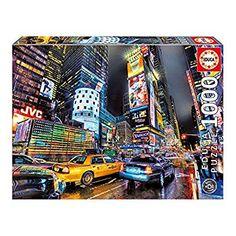 Educa Jigsaw Puzzle - Times Square, New York Pieces) Tour Eiffel, New York Pas Cher, Chateau Disney, Puzzles 3d, Times Square New York, Prince, New York Mets, Paris, Yorkie