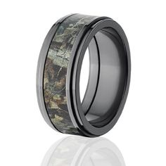 Camouflage men's wedding ring, unique men's wedding ring - Amazon.com