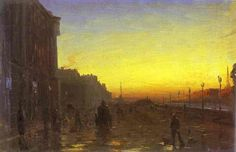Fyodor Vasilyev (1850–1873) ~Dawn in St. Petersburg..
