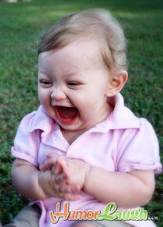 sweet laughing baby girl