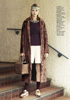MARGOT TENENBAUM INSPIRED EDITORIAL GRAZIA FRANCE GWYNETH PALTROW ROYAL TENENBAUMS MOVIE STYLE PHOTOGRAPHER EMANUELE FONTANE...