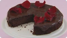 Healthier fudgy chocolate orange cake. Flourless, butterless and 1/3rd ...