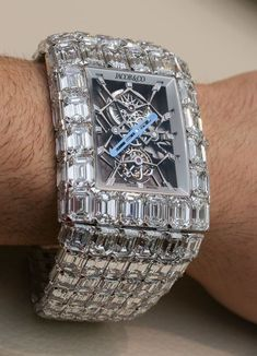 $18,000,000 ...... Read the story to this watch:  http://www.ablogtowatch.com/wearing-18000000-jacob-co-billionaire-watch/