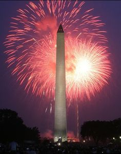 Fireworks Pictures - National Mall Independence Day: Fireworks Over the Washington Monument