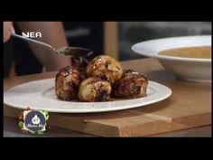 Κοτόσουπα βελουτέ με κολοκύθα & Σάντουιτς κοτόπουλο με τέλειο sauce-aki Baked Potato, Potatoes, Baking, Ethnic Recipes, Food, Bakken, Eten, Bread, Potato