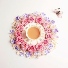 I absolutely love this vintage teacup, it reminds me of the Secret Garden.  Wishing you a lovely rosey day!