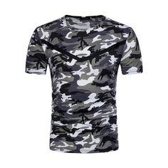 c8ee6383860 Mens Summer Camo Casual T Shirts