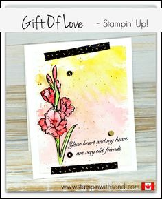 Gift Of Love Stampin Up for Happy Stampers card by Sandi @ www.stampinwithsandi.com
